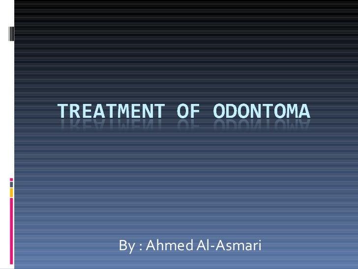 Odontoma, managment