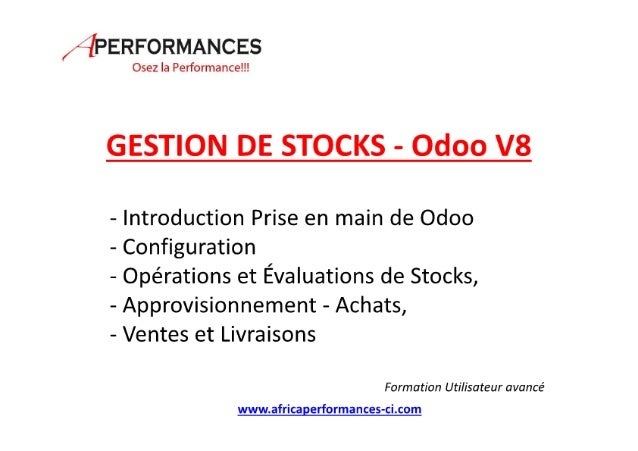 Odoo gestion des stocks v8