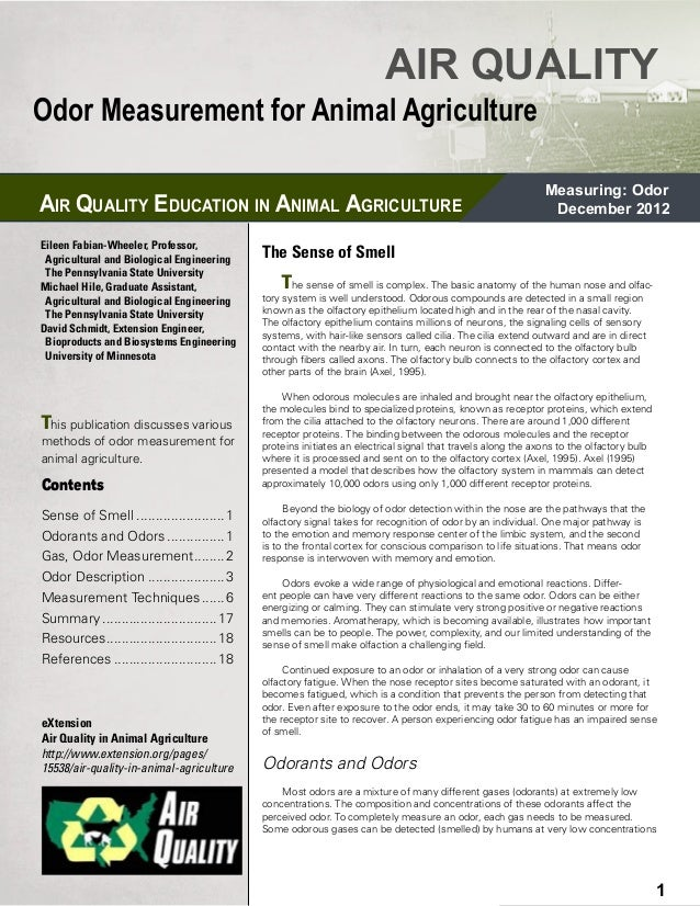 AIR QUALITYOdor Measurement for Animal Agriculture                                                                        ...