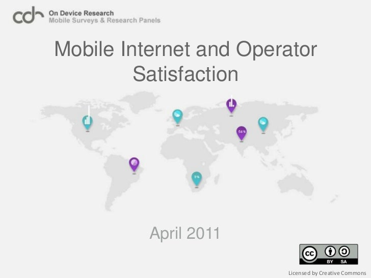 Mobile Internet Satisfaction 2011