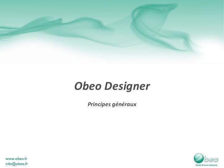 Principes généraux Obeo Designer