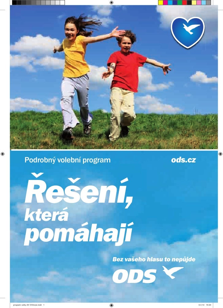 ODS - Volebni program do poslancke snemovny 2010