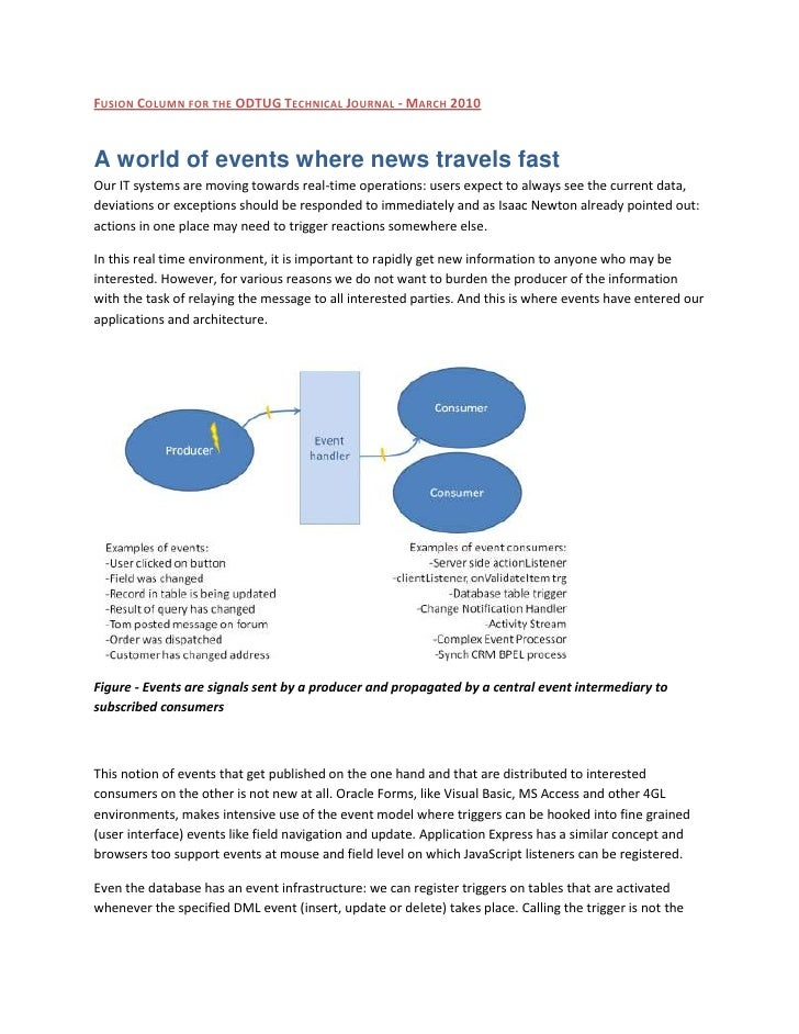 A world of events where news travels fast
