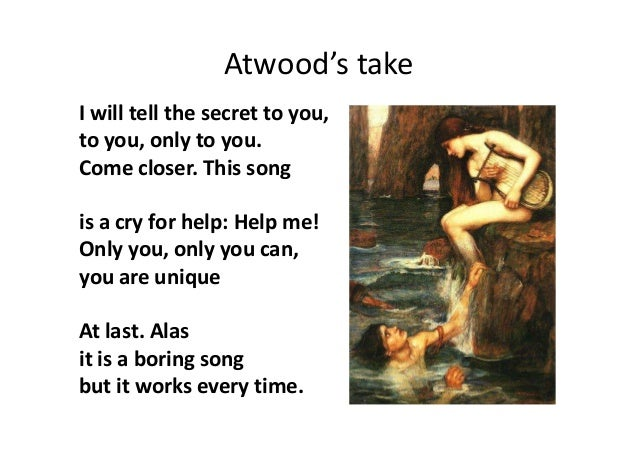 siren song margaret atwood essaysiren song margaret atwood essay one day