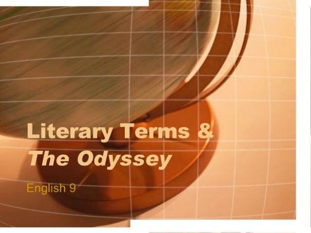 Odyssey Literary Terms