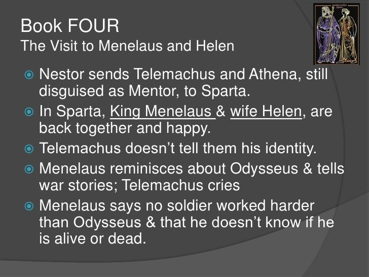 the odyssey books 1 4 notes But my heart is torn for wise odysseus, hapless man, who far from his friends has   in his mind upon the journey which athena had shewn him 1 1 2 1 3 2 4 1.