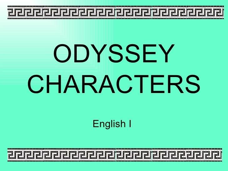 ODYSSEYCHARACTERS   English I