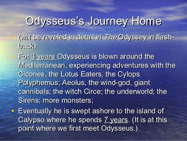 odyssey symbolism essay The odyssey homer online information style, historical context, critical overview, criticism and critical essays, media famous for its use of symbolism and.