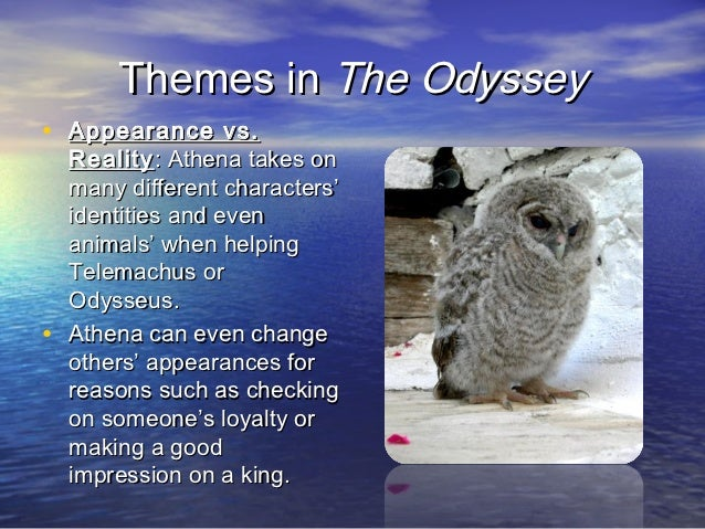 telemachus' growth Odyssey introduction powerpoint  themes in the odyssey• spiritual growth : telemachus and odysseus both experience struggles which cause them to mature.