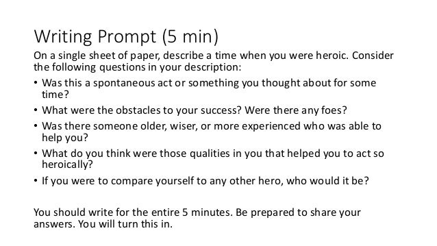 Odyssey Writing Prompts?