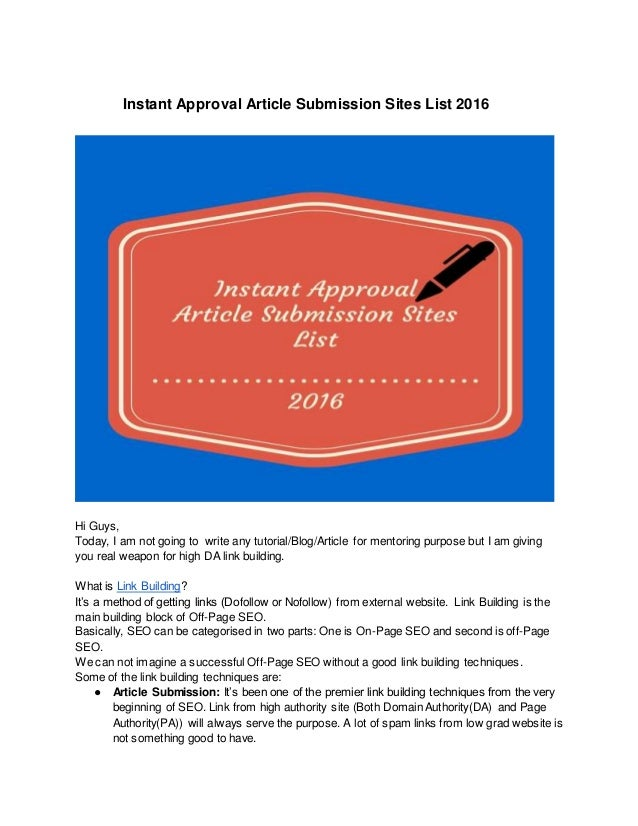 technology article submission sites