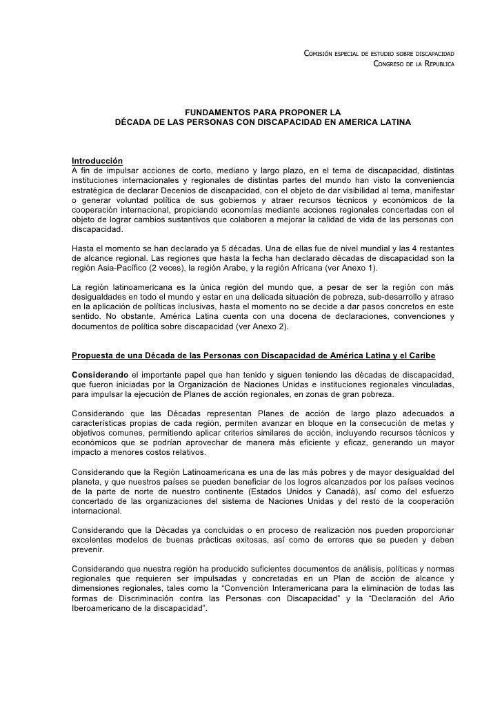 COMISIÓN ESPECIAL DE ESTUDIO SOBRE DISCAPACIDAD                                                                           ...