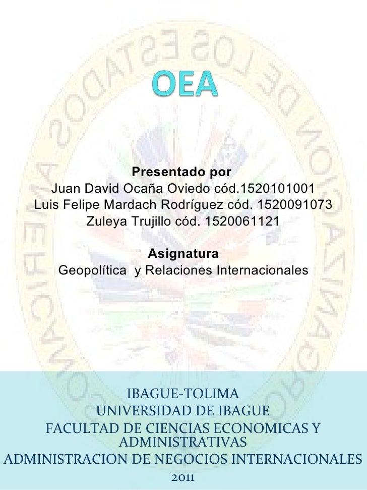 Presentado por  Juan David Ocaña Oviedo cód.1520101001 Luis Felipe Mardach Rodríguez cód. 1520091073 Zuleya Trujillo cód. ...