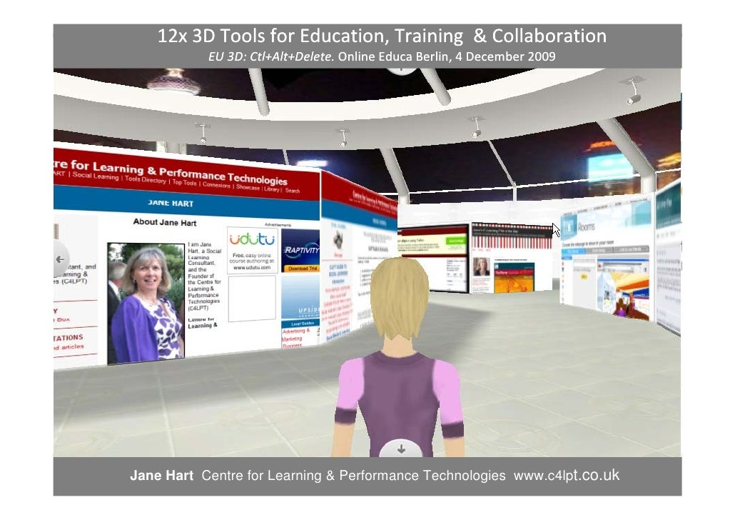 12x 3D Tools for Education, Training  & Collaboration            EU 3D: Ctl+Alt+Delete. Online Educa Berlin, 4 December 20...