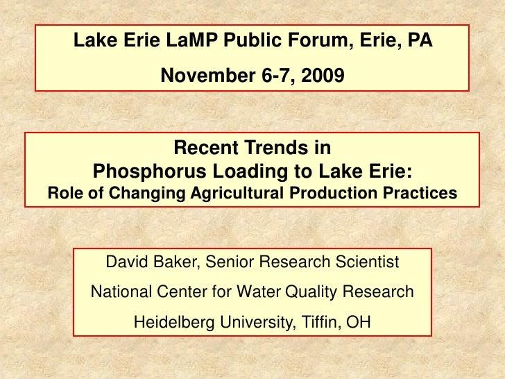 LaMP Presentation, David Baker