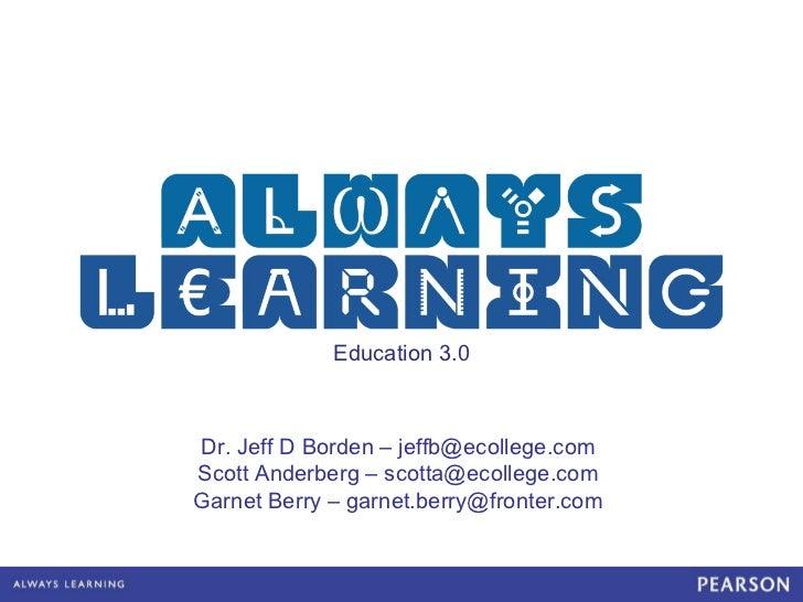 OED11 Education 3.0