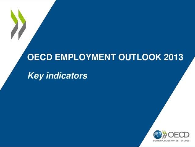 OECD EMPLOYMENT OUTLOOK 2013 Key indicators