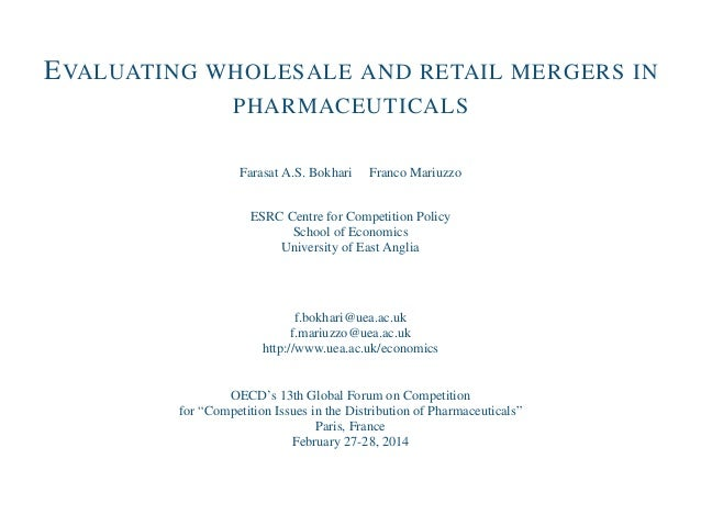 Competition and Pharmaceuticals - Farasat Bokhari - 2014 OECD Global Forum on Competition