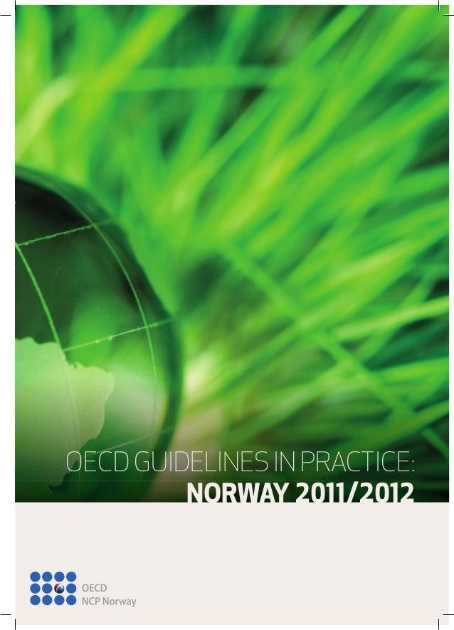 OECD GUIDELINES IN PRACTICE: NORWAY /