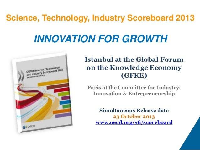 OECD Scoreboard 2013 Istanbul Launch