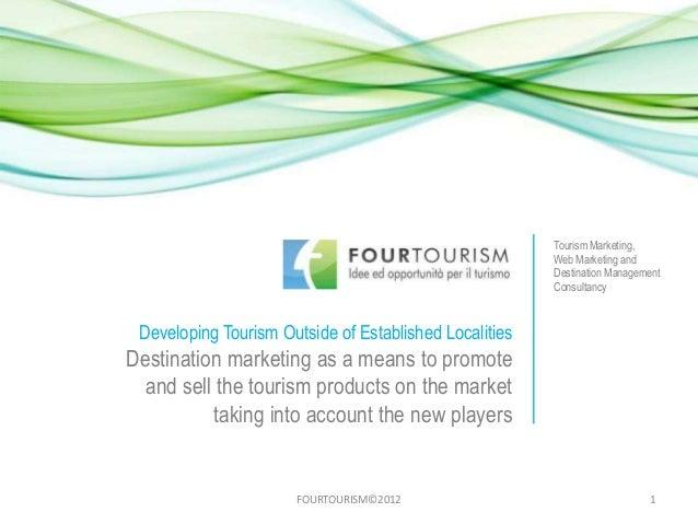 Tourism Marketing,                                                        Web Marketing and                               ...