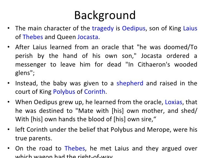 Oedipus the king summary pdf