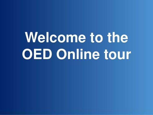 OED Online tour