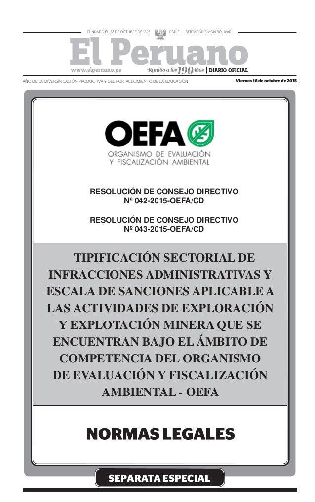 SEPARATA ESPECIAL Viernes 16 de octubre de 2015AÑO DE LA DIVERSIFICACIÓN PRODUCTIVA Y DEL FORTALECIMIENTO DE LA EDUCACIÓN ...