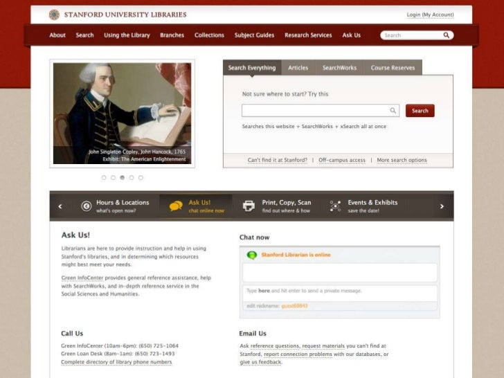 New Stanford Library Website Preview