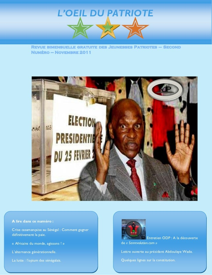 L'OEIL DU PATRIOTE             Revue bimensuelle gratuite des Jeunesses Patriotes – Second             Numéro – Novembre 2...