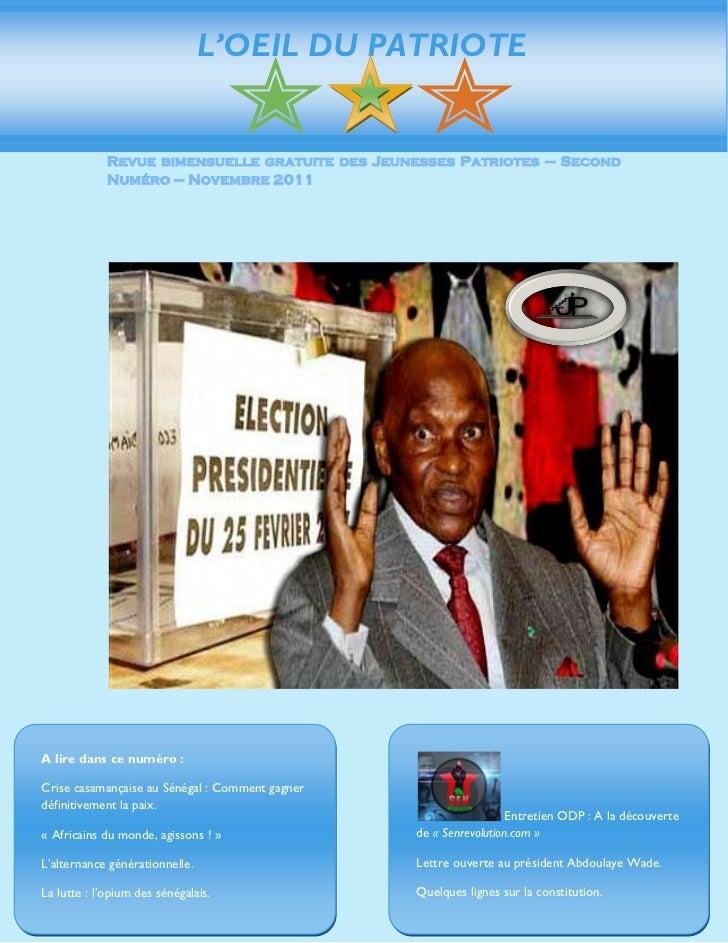Oeil du patriote n.02 novembre decembre 2011