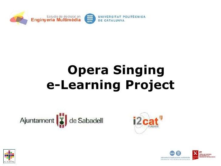 Opera Singing e-Learning Project