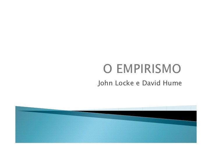 John Locke e David Hume