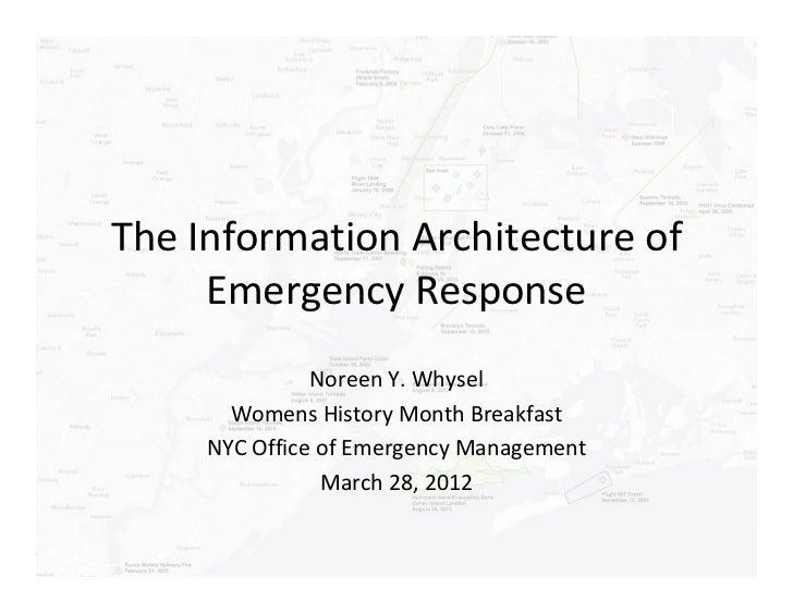 OEM Presentation -  IA and Emergency Response