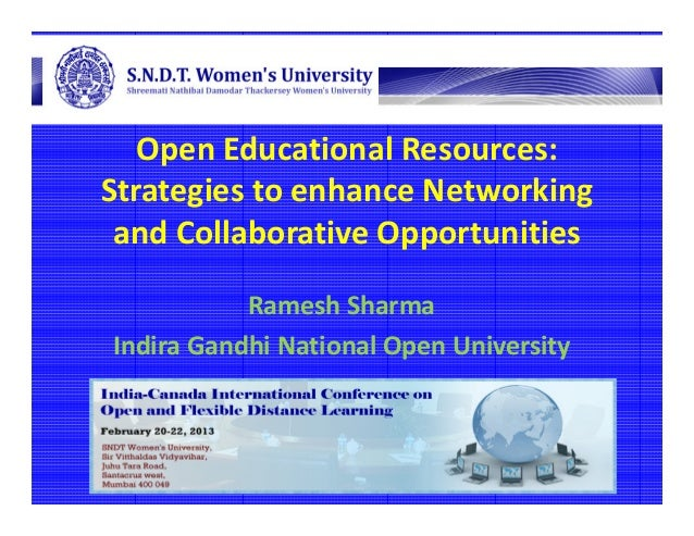 Open Educational Resources:Strategies to enhance Networking and Collaborative Opportunities