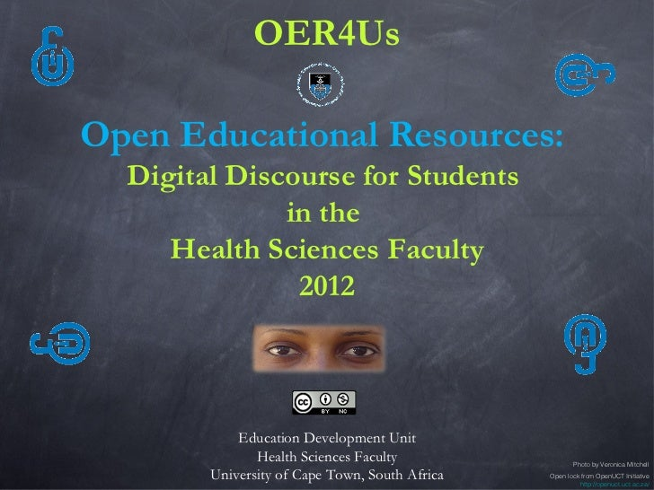 OER4Us: Open Educational Resources: Digital Discourse for Students in the Health Sciences Faculty