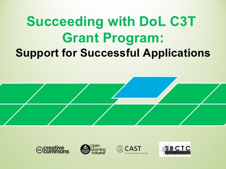 Succeeding with DoL C3T  Grant Program: Support for Successful Applications