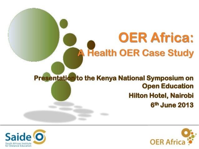OER Africa   A Health OER Case Study