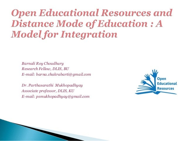 Open Educational Resources and Distance Mode of Education: A Model for Integration