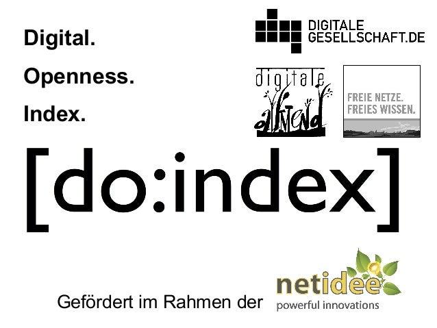 Digital. Openness. Index. Gefördert im Rahmen der