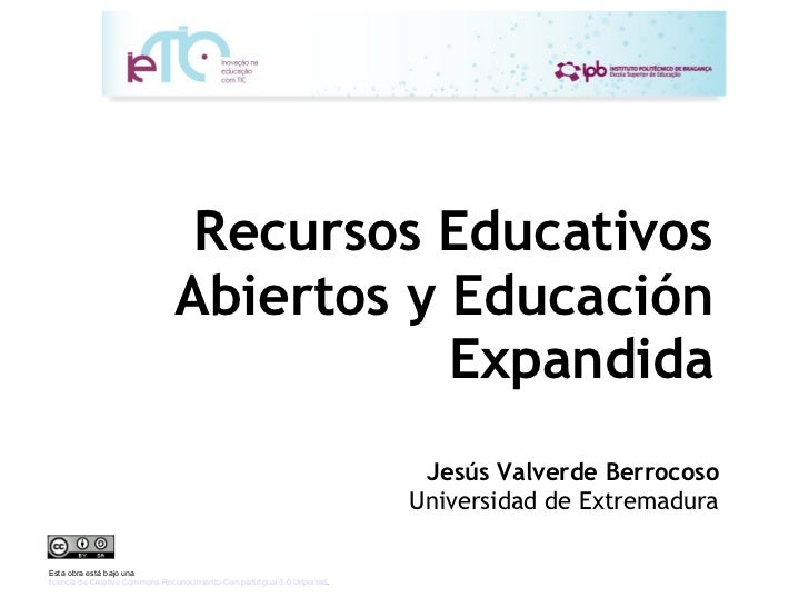 Recursos educativos abiertos y Educación Expandida