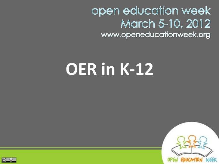 OER in K-12