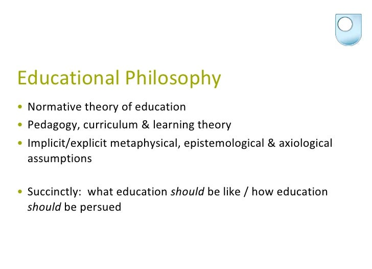 Adult education philosophy can