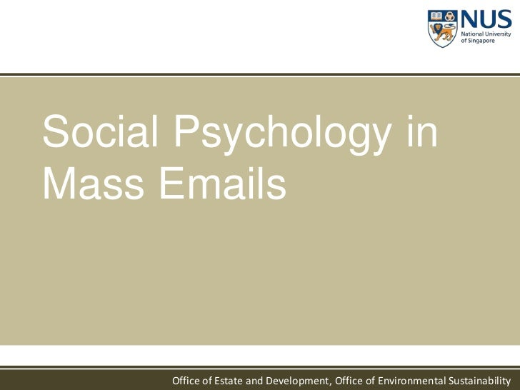Social Psychology in Mass Emails<br />