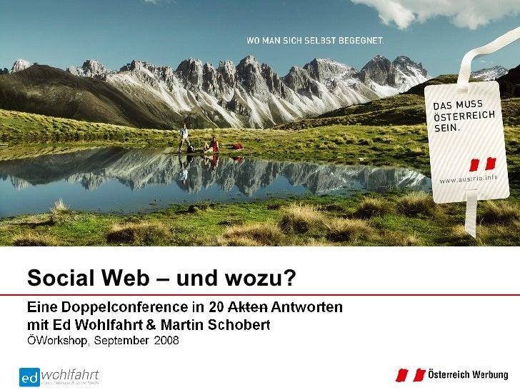 Social Web – und wozu?