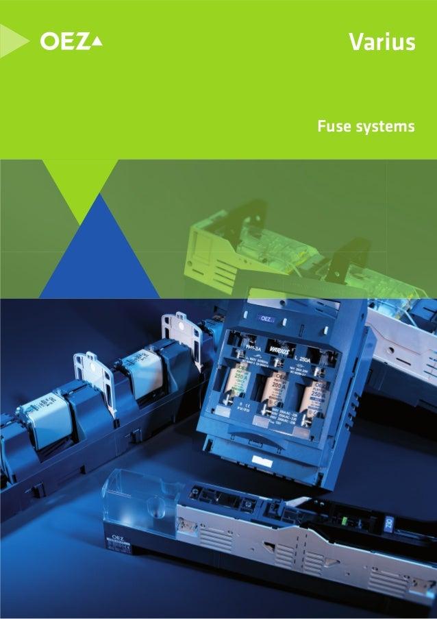 Thông số kỹ thuật cầu chì hãng OEZ, OEZ  fuse Catalogue