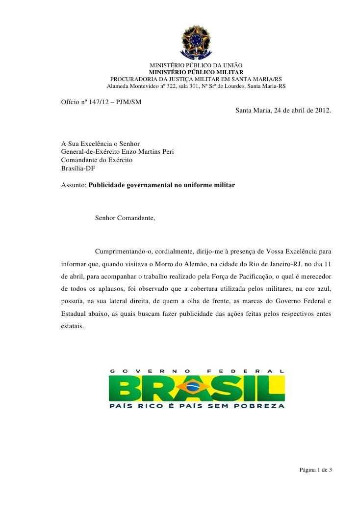 MINISTÉRIO PÚBLICO DA UNIÃO                             MINISTÉRIO PÚBLICO MILITAR                PROCURADORIA DA JUSTIÇA ...