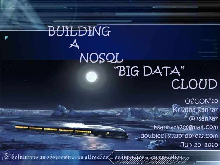 A Hitchhiker's Guide to NOSQL v1.0