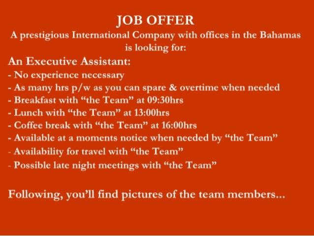 oferta de trabalho para as meninas