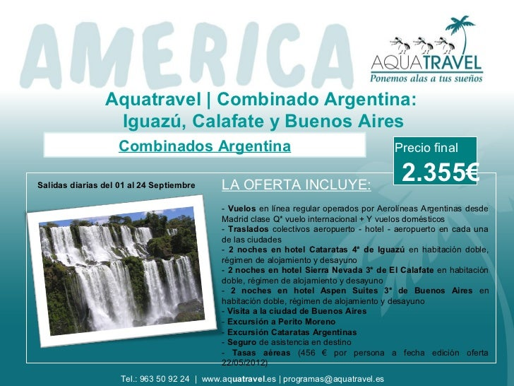 Oferta Combinado Argentina: Iguazu + Calafate + Buenos Aires